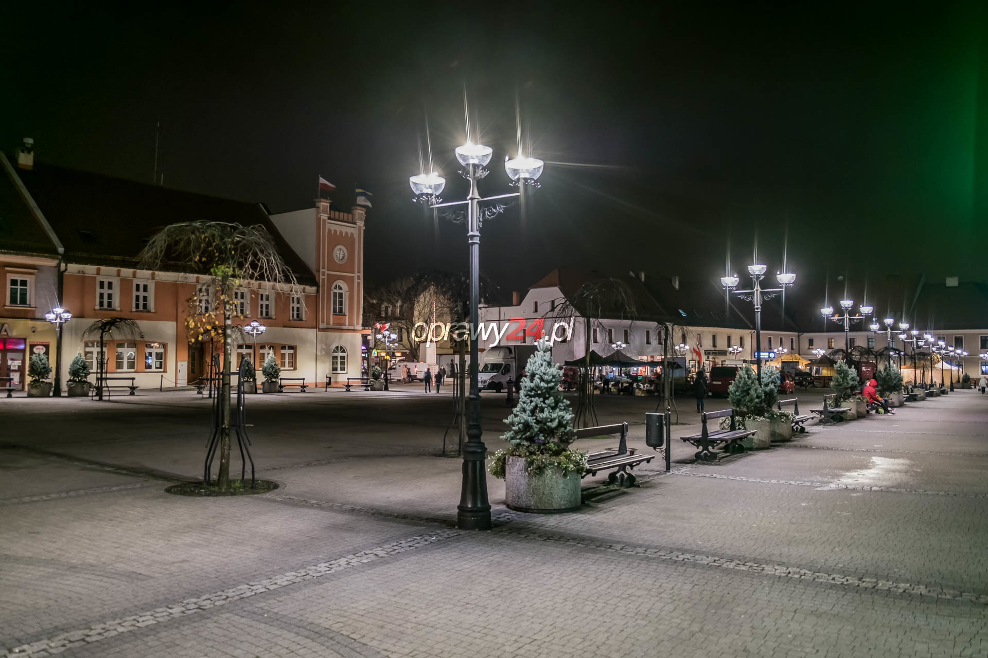 Mikołowski rynek w blasku LED