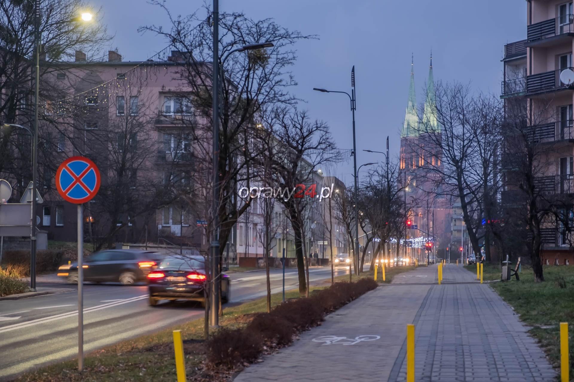 Kilka ulic w Rybniku z oświetleniem LED