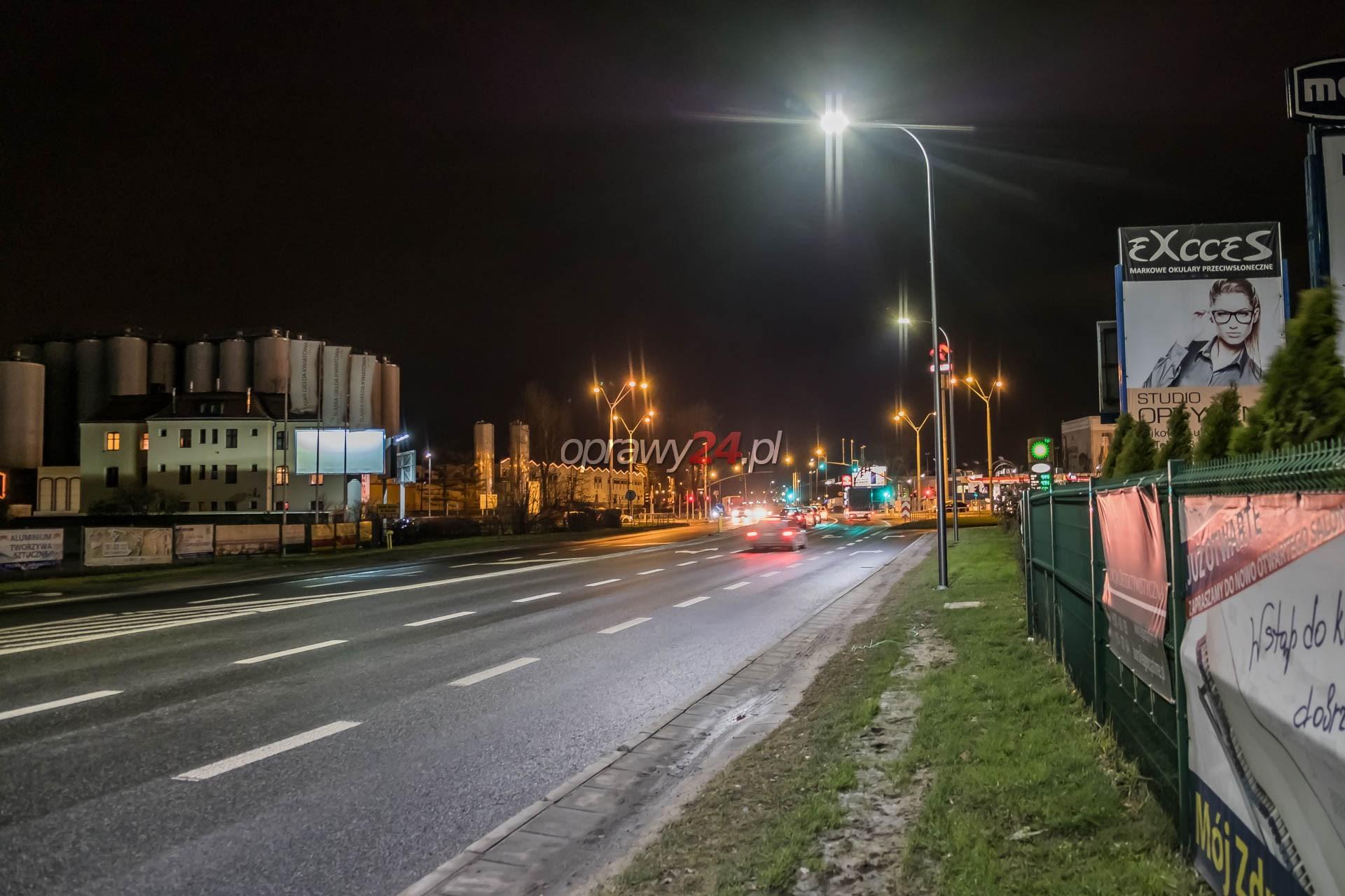 Nowe oświetlenie LED na Oświęcimskiej