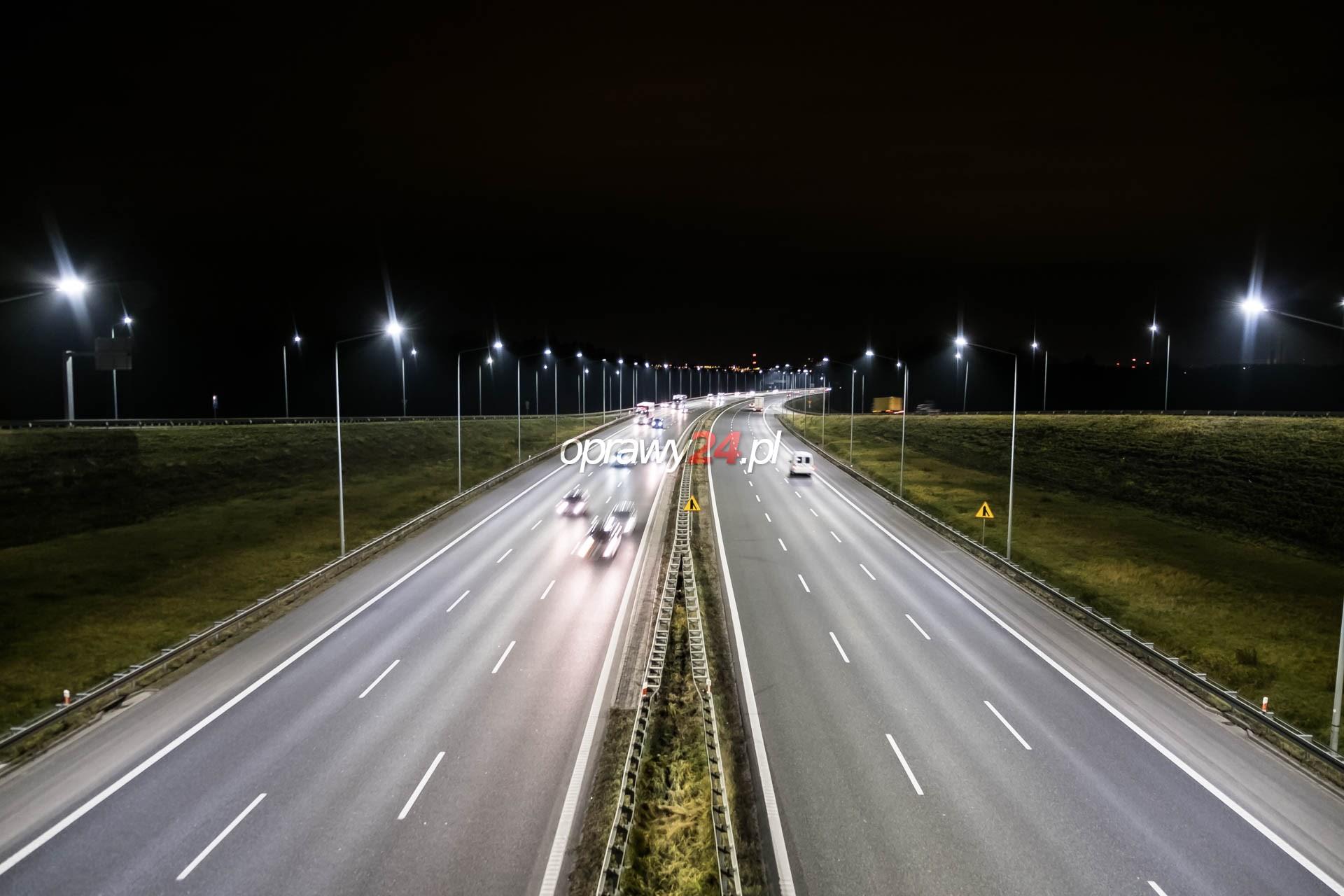 Zabrze Południe – kolejny węzeł autostradowy z oświetleniem LED