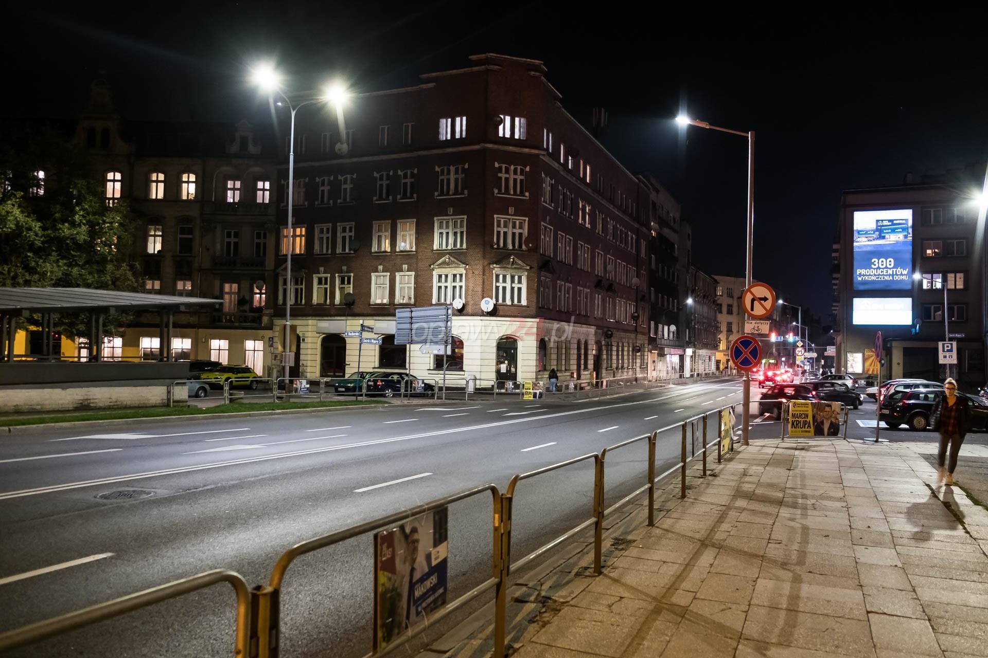 Kilkanaście katowickich ulic z oświetleniem LED
