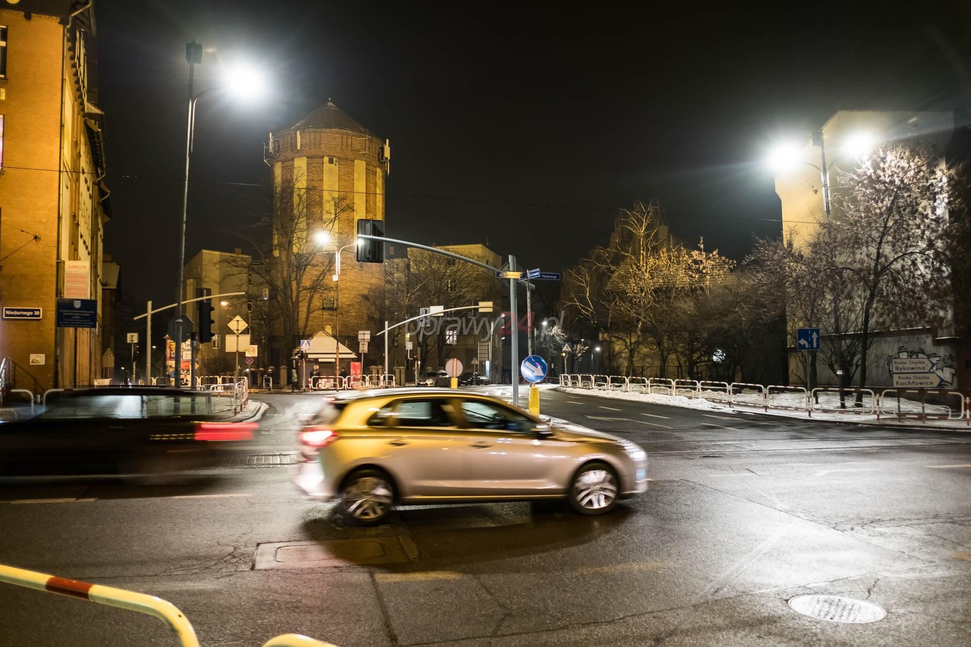 Nowe oświetlenie na Chorzowskiej