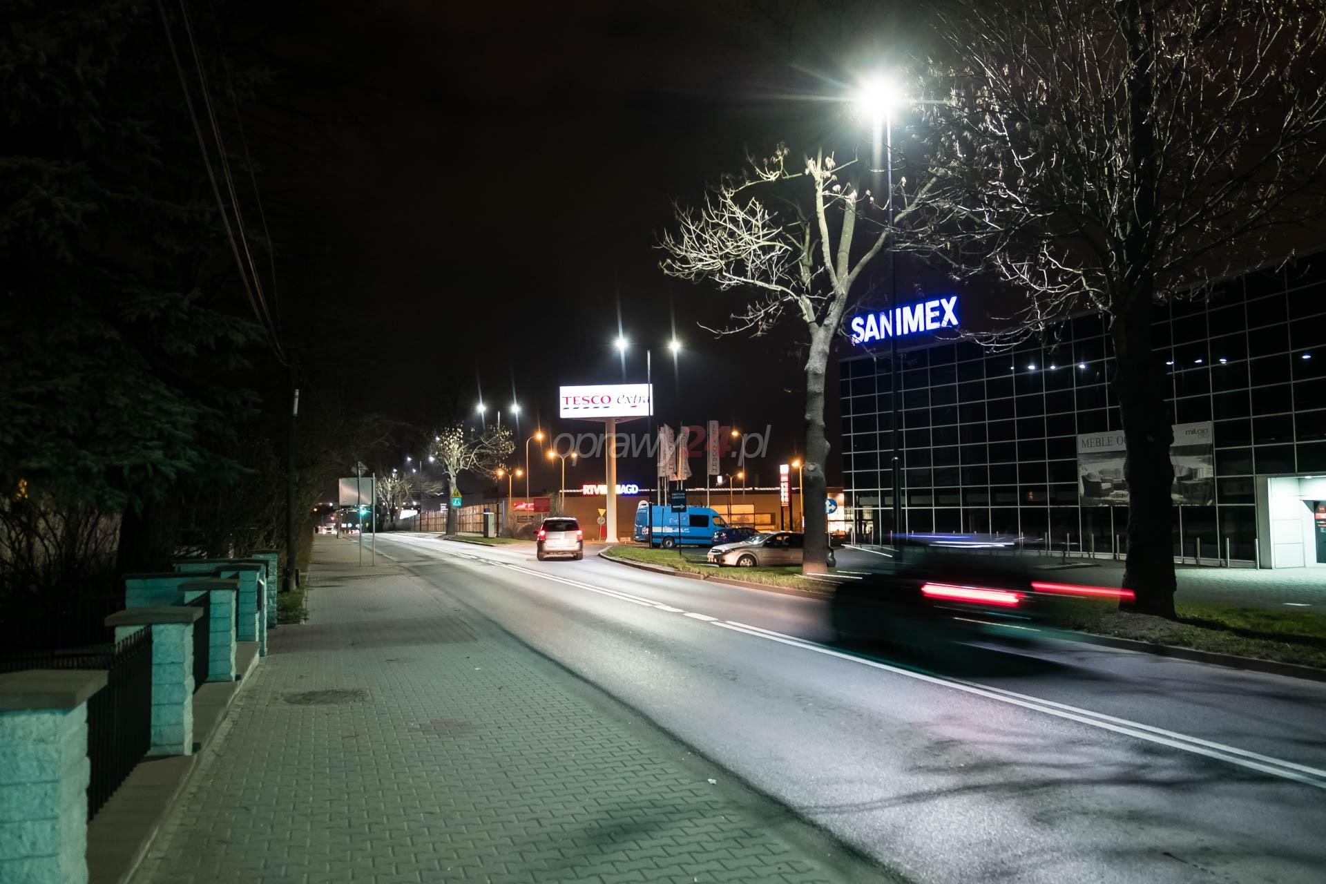Białe światło na ulicach Gliwic